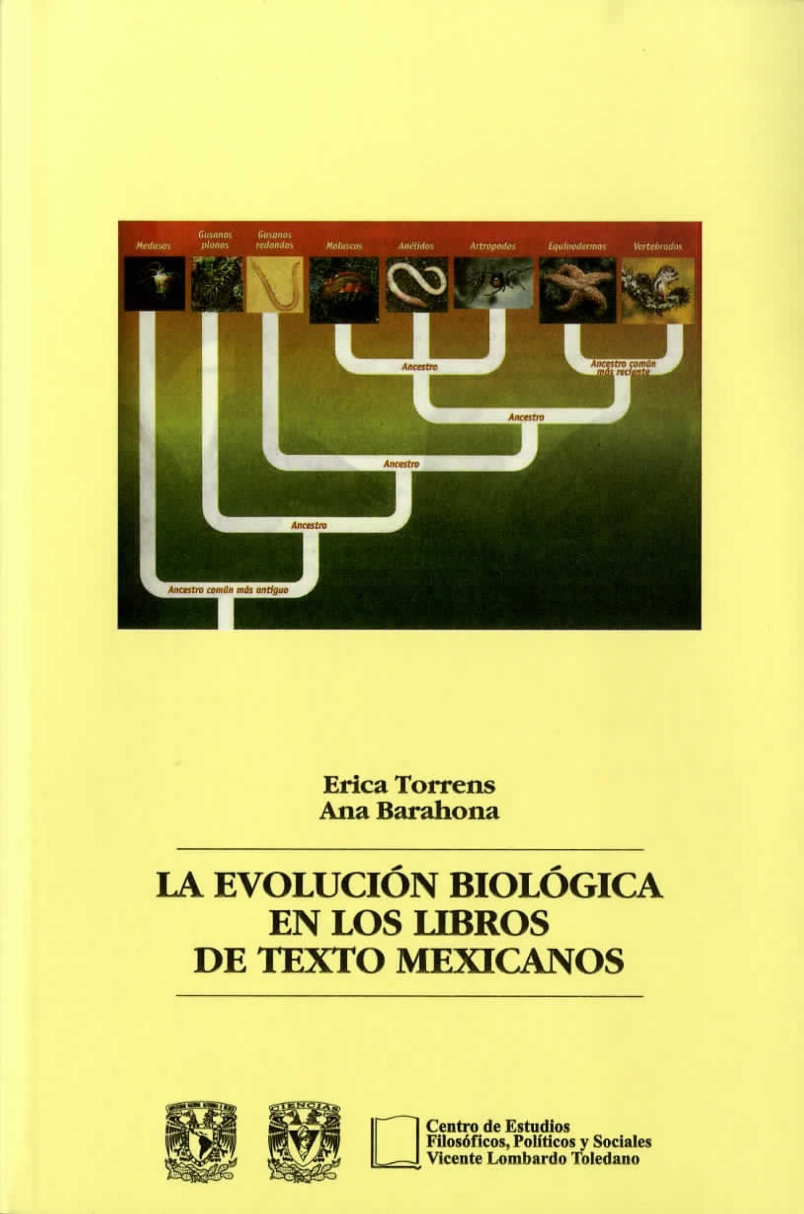 Portada del libro: LA EVOLUCIÓN BIOLÓGICA EN LOS LIBROS DE TEXTO MEXICANOS