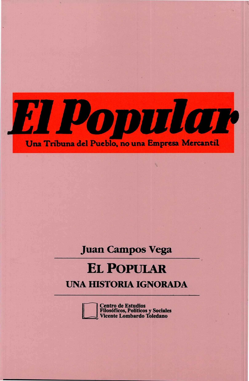 Portada del libro: EL POPULAR: UNA HISTORIA IGNORADA