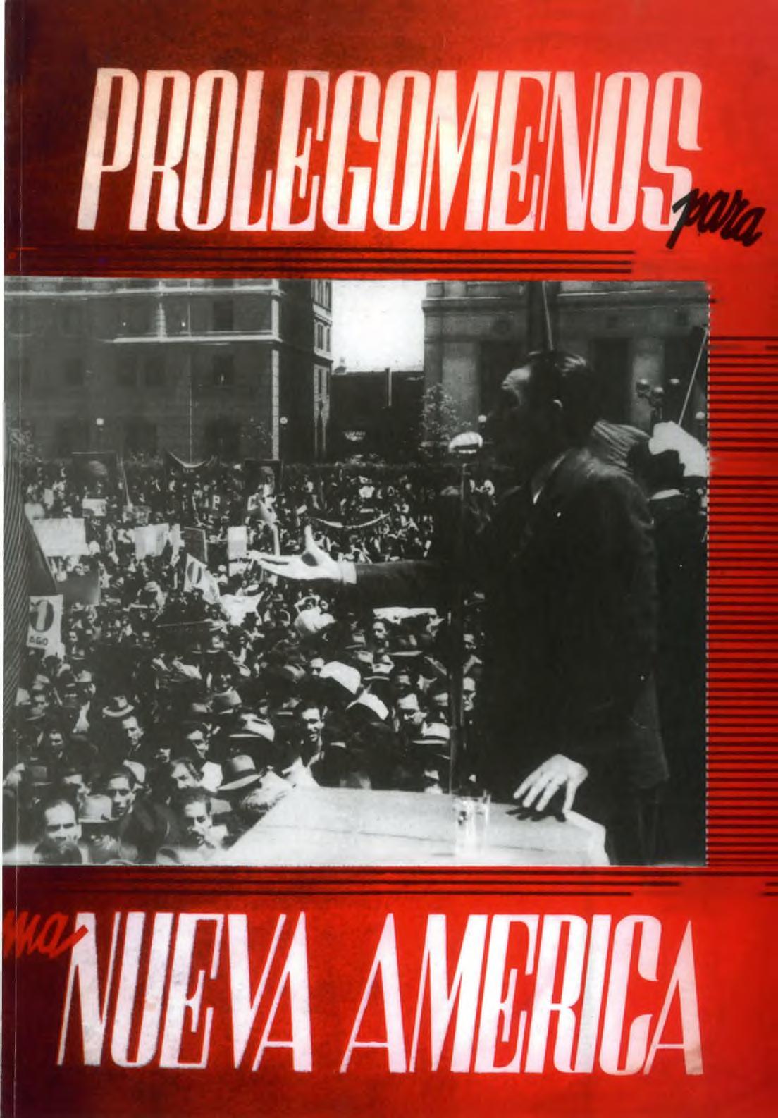 Portada del libro: PROLEGÓMENOS PARA UNA NUEVA AMÉRICA