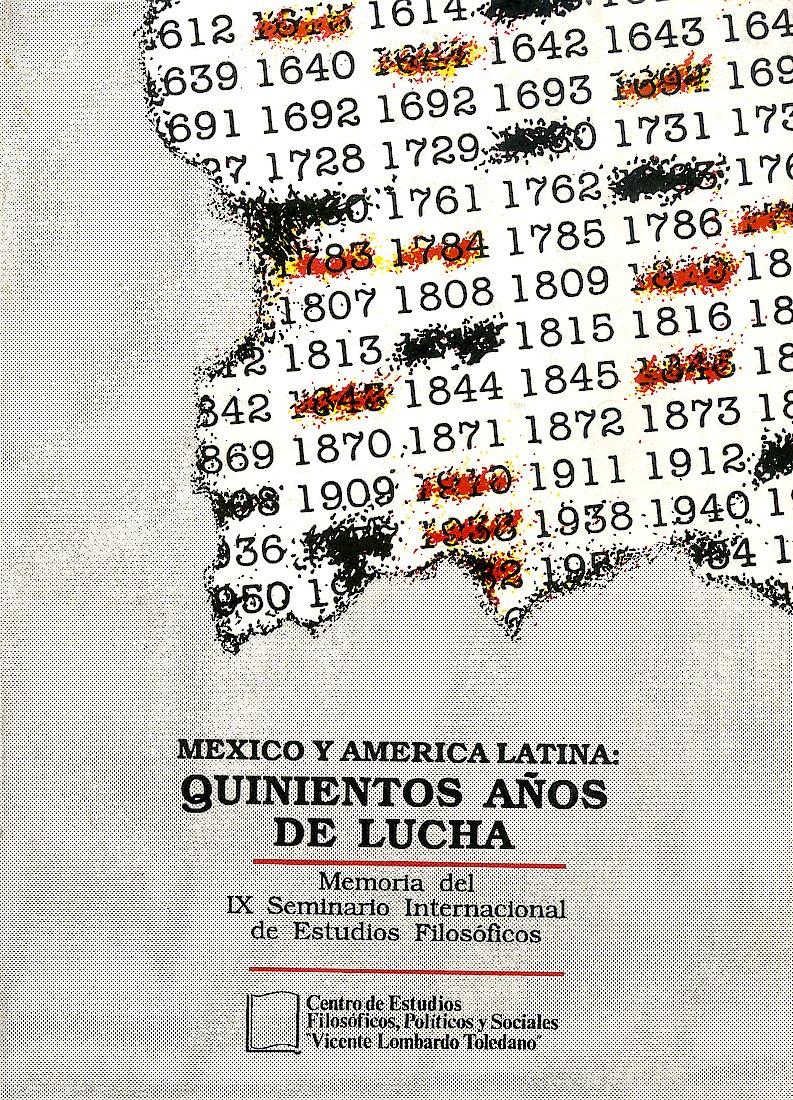 Portada del libro: MÉXICO Y AMÉRICA LATINA: QUINIENTOS AÑOS DE LUCHA
