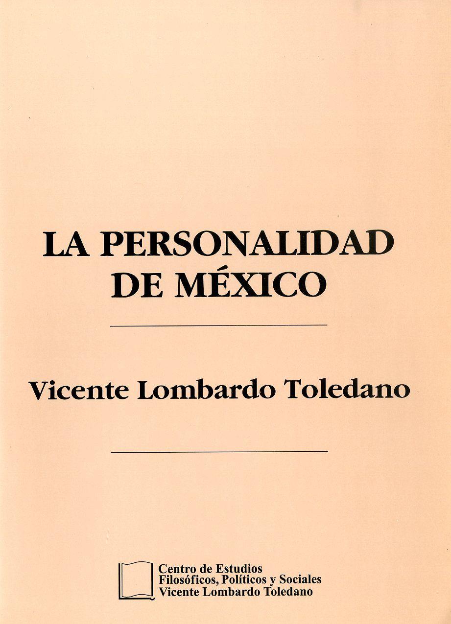 Portada del libro: LA PERSONALIDAD DE MÉXICO