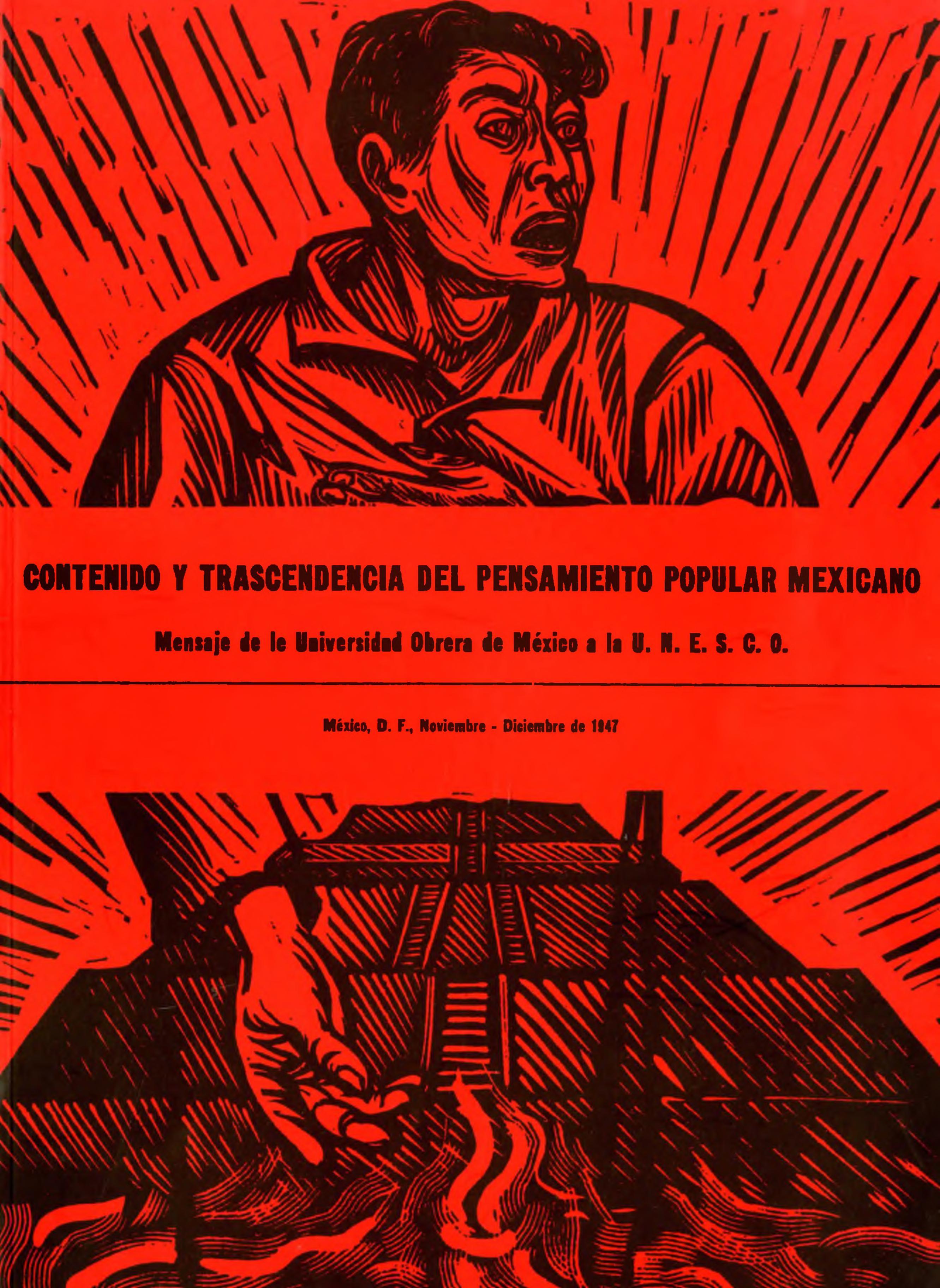 Portada del libro: Contenido y trascendencia del pensamiento popular mexicano