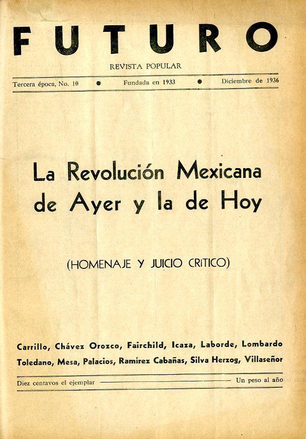Portada del libro: La Revolución Mexicana de Ayer y la de Hoy