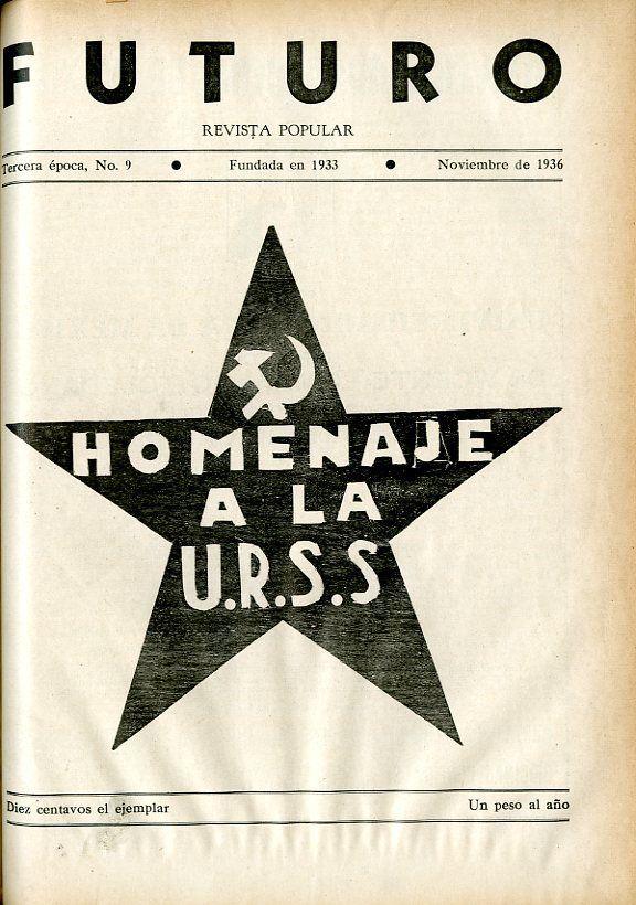 Portada del libro: Homenaje a la U.R.S.S.